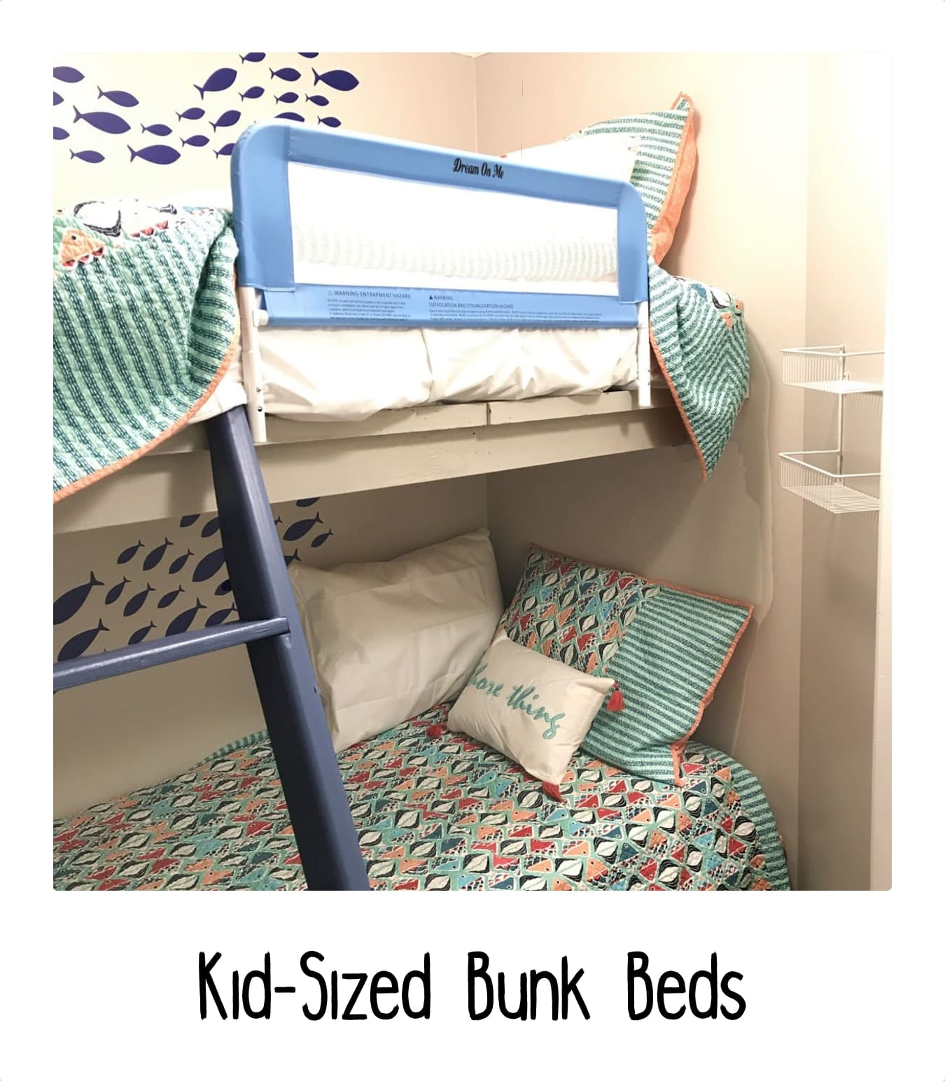 Kid-sized bunk beds at Shells In Your Pocket